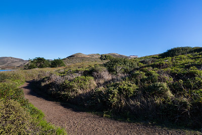 Rodeo Lagoon (left) & The Presidio Riding Club (right). Coastal Trail. Marin Headlands. Golden Gate National Recreation Area, CA, USA