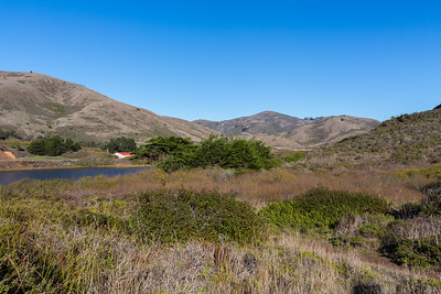 Rodeo Lagoon & Bunker Road. Near Coastal Trail. Marin Headlands. Golden Gate National Recreation Area, CA, USA