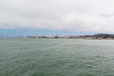 Bay Bridge (Left), San Francisco (Right). Torpedo Wharf - San Francisco, CA, USA