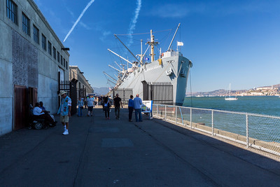 Blue Angels Practice Flight (10-9-2015) over SS Jeremiah O'Brien. Fisherman's Wharf - San Francisco, CA, USA