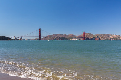 Golden Gate Bridge. Crissy Field East Beach - San Francisco, CA, USA