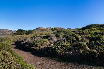 Rodeo Lagoon (left) & The Presidio Riding Club (right). Coastal Trail. Marin Headlands. Golden Gate National Recreation Area, CA, USA