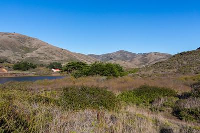 Rodeo Lagoon & Bunker Road. Near Coastal Trail. Marin Headlands. Golden Gate National Recreation Area, CA, USA