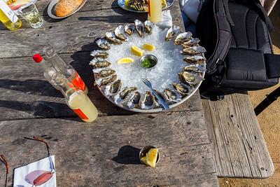 Raw Shucked Oysters. Hog Island Oyster Farm - Marshall, CA, USA