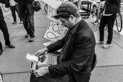 Poems. Near Ferry Building. San Francisco, CA, USA