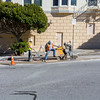 Road Work. Intersection of Steiner Street & Hayes Street. Alamo Square - San Francisco, CA, USA