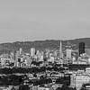 Sunset. View towards Downtown San Francisco. Grandview Park - San Francisco, CA, USA