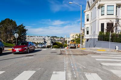Steiner Street. Alamo Square - San Francisco, CA, USA