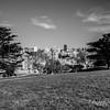 View towards Downtown San Francisco. Alamo Square  - San Francisco, CA, USA