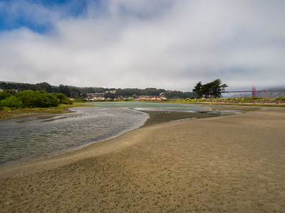 Presidio, Golden Gate Bridge, and Crissy Field Marsh. Crissy Field. San Francisco, CA, USA