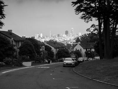 Downtown San Francisco. Storey Avenue. San Francisco, CA, USA.