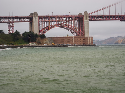 Fort Point & Golden Gate Bridge. Torpedo Wharf. San Francisco, CA, USA