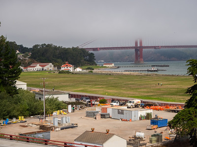 Presidio & Golden Gate Bridge. Lincoln Blvd. San Francisco, CA, USA
