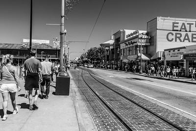 Fishermans Wharf Area. Jefferson Street - San Francisco, CA, USA