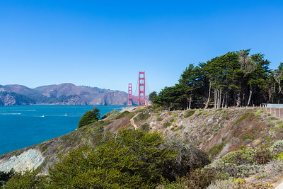 Golden Gate Bridge. Lincoln Blvd - San Francisco, CA, USA