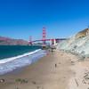 Golden Gate Bridge. Marshall Beach - San Francisco, CA, USA