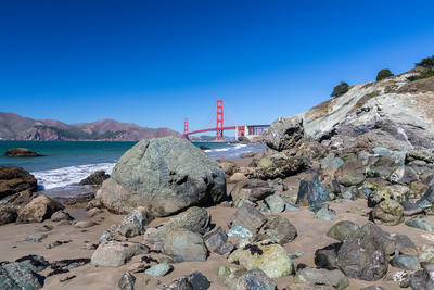 Golden Gate Bridge. Marshall Beach - San Francisco, CA, USA