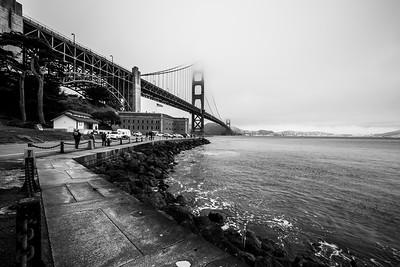 Golden Gate Bridge & Fort Point. Presidio - San Francisco, CA, USA