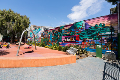 24th and York Mini Park. Mission District. San Francisco, CA, USA