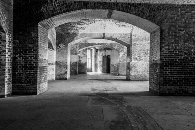 Black and White. Fort Point National Historic Site - San Francisco, CA, USA
