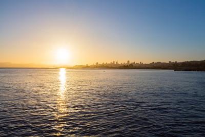 Sunrise. Torpedo Wharf - San Francisco, CA, USA
