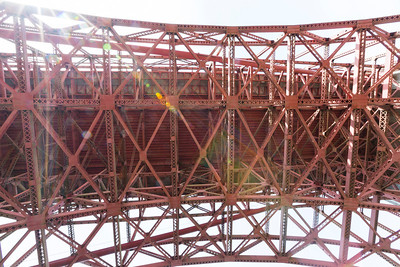 Under the Golden Gate Bridge. Fort Point National Historic Site - San Francisco, CA, USA