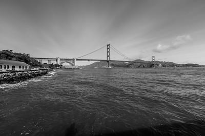 Golden Gate Bridge. Torpedo Wharf - San Francisco, CA, USA