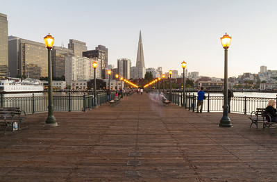 Transamerica Pyramid & The Embarcadero. Pier 7 - San Francisco, CA, USA