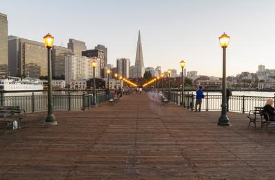 Transamerica Pyramid & The Embarcadero. Pier 7 - San Francisco, CA, USA