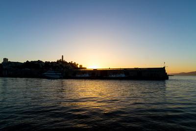 Sunset. Pier 7 - San Francisco, CA, USA