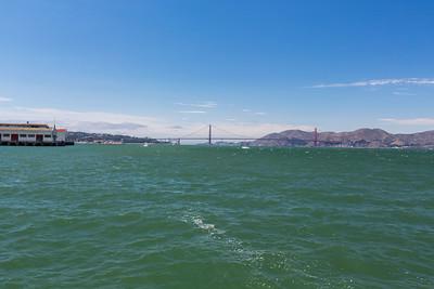 Golden Gate Bridge. Aquatic Park Pier - San Francisco, CA