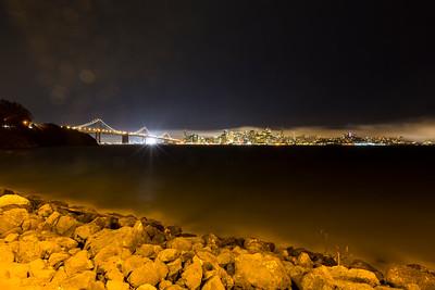 Bay Bridge & San Francisco. Treasure Island, CA
