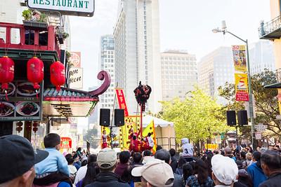 Lion Dance. Washington Street - San Francisco, CA, USA