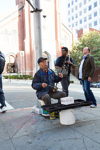 Huqin Player. Chinatown (Grant Avenue) - San Francisco, CA, USA, people,