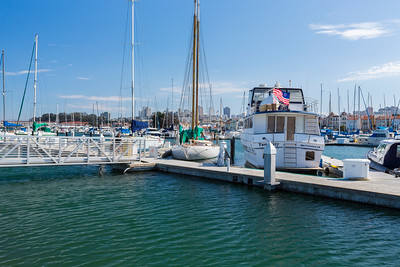 San Francisco Marina Yacht Harbor - San Francisco, CA, USA