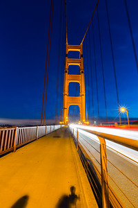Dusk. Golden Gate Bridge - Sausalito, CA, USA