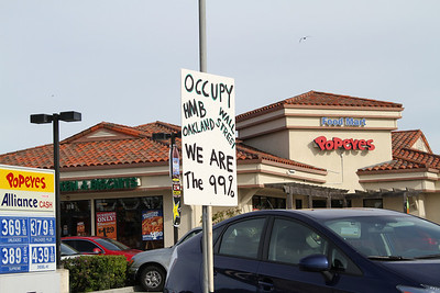 Occupy Wall Street Protesters. Half Moon Bay, CA, USA