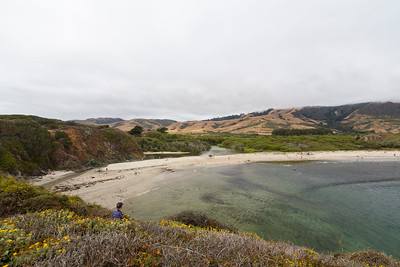 Big Sur River (Left), Pacific Ocean (Right). Andrew Molera State Park - Big Sur, CA, USA