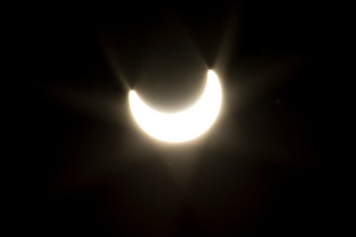 Solar Eclipse 5-20-2012. Shadow Cliff Regional Park - Pleasanton, CA, USA