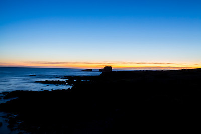 Sunset. Near Elephant Seal Vista Point. SR-1 - San Simeon, CA, USA