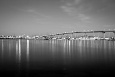 Dusk. Coronado Bridge. Coronado Tidelands Park - Coronado Island - Coronado, CA, USA