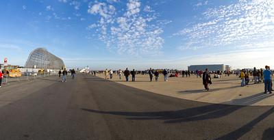 Panorama of NASA Moffett Field - Mountain View, CA, USA