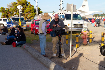 News crew for the Space Shuttle Endeavour Flyover. NASA Moffett Field - Mountain View, CA, USA