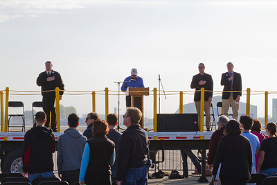 Speech for the Space Shuttle Endeavour Flyover. NASA Moffett Field - Mountain View, CA, USA