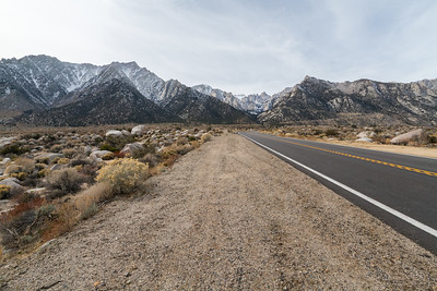 Mt. Whitney & Eastern Sierras. Whitney Portal Road. Inyo National Forest, CA, USA