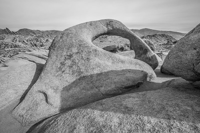 HDR Composition. Mobius Arch. Mobius Arch Loop Trail. Alabama Hills. Lone Pine, CA, USA