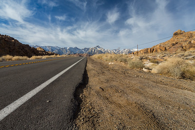 Mt. Whitney & Eastern Sierras. Whitney Portal Road. Alabama Hills. Lone Pine, CA, USA