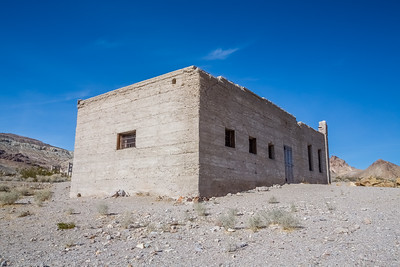 HDR Composition. Rhyolite Jailhouse. Rhyolite Ghost Town. Rhyolite, NV