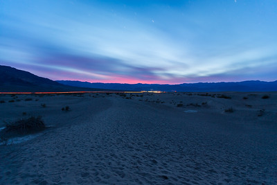 Sunset. Mesquite Flat Sand Dunes. Death Valley National Park, CA/NV
