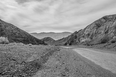 HDR Composition. Wildrose Road. Death Valley National Park, CA/NV